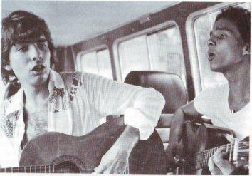 Santiago Feliú y Donato Poveda, en La Habana de los años 80. Así eran ambos cuando los conocí.