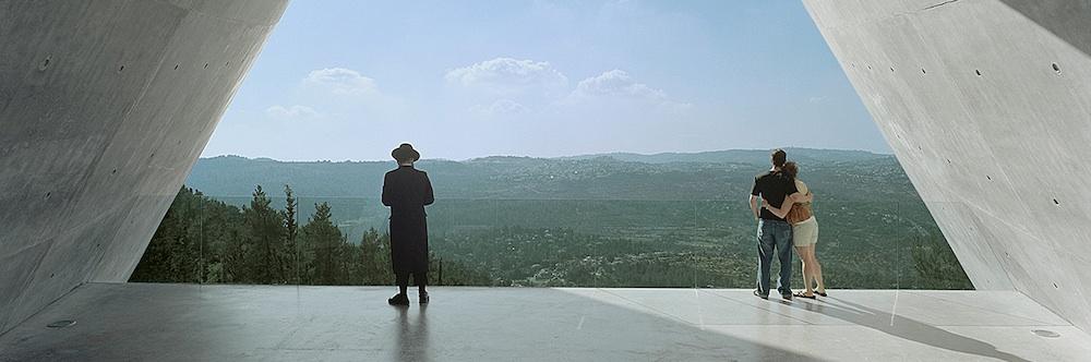 Yad Vashem Holocaust Museum, View overlooking Jerusalem, Jerusalem, Israel, 2005. Photograph by Timothy Hursley.